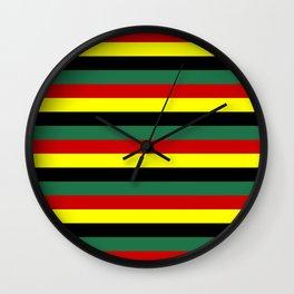 ghana flag stripes Wall Clock