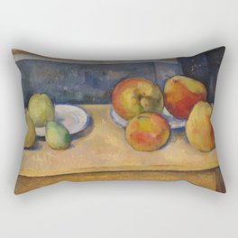 """Paul Cezanne """"Still Life with Apples and Pears"""" Rectangular Pillow"""