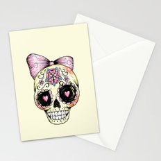 Sugar Skull (Yellow) Stationery Cards