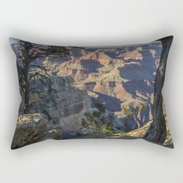 The Grand Canyon and Trees. Rectangular Pillow