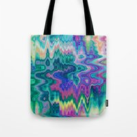 trippy Tote Bags featuring Trippy by Dorothy Pinder