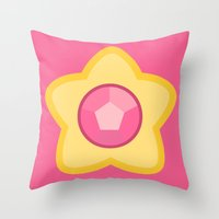 steven universe Throw Pillows featuring Steven Universe by The Barefoot Hatter