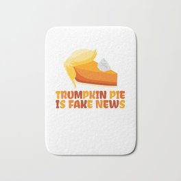 Trumpkin Pumpkin Pie Funny Thanksgiving Bath Mat