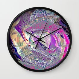 Flower on Flower Wall Clock