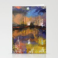 fireworks Stationery Cards featuring Fireworks by Michael Creese