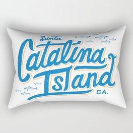 Catalina Island White  Rectangular Pillow