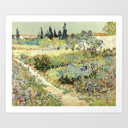 Vincent Van Gogh : Garden at Arles Art Print