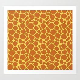 Giraffe animal print Art Print