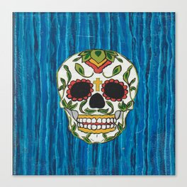 DAY OF THE DEAD - ICE BLUE VOODOO Canvas Print
