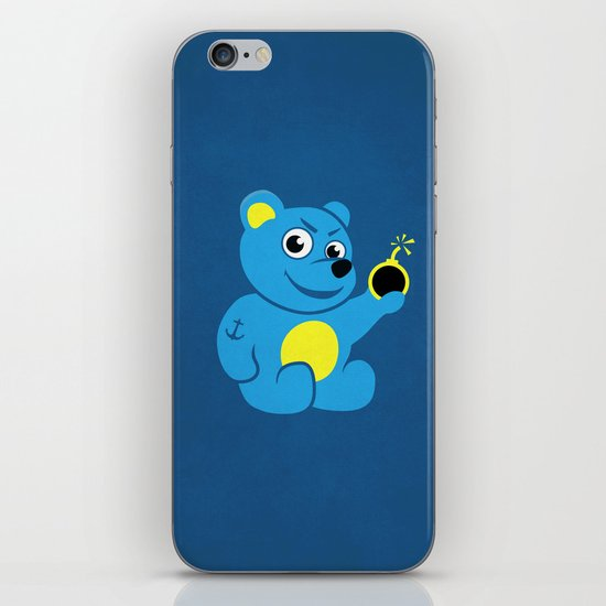 Evil Tattooed Teddy Bear iPhone & iPod Skin