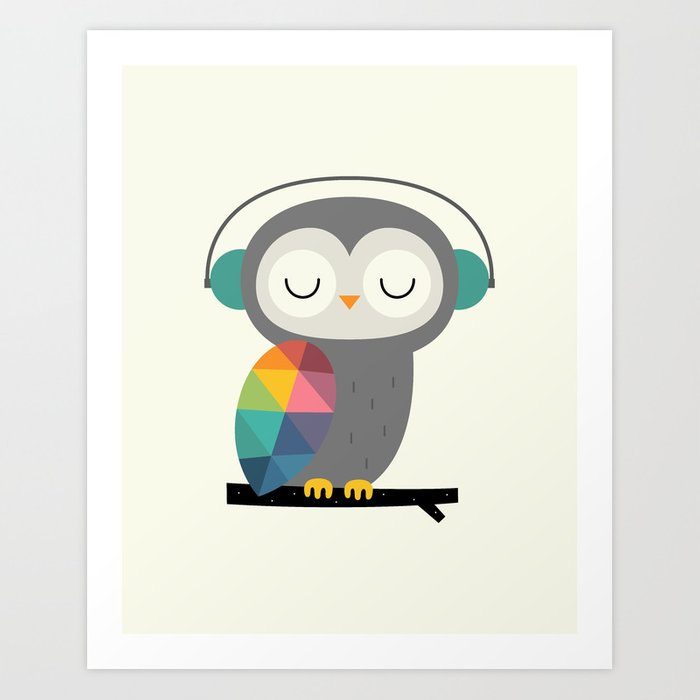 Discover the motif OWL TIME by Andy Westface as a print at TOPPOSTER