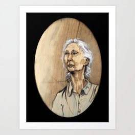 Jane Goodal Art Print