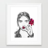 cara Framed Art Prints featuring CARA  by Roxanne Jade Dentry