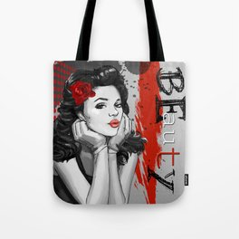 Trash Polka Retro Pinup Girl Beauty Tote Bag