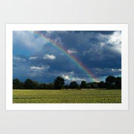 Living in the rainbow land Art Print
