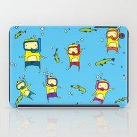 scuba iPad Cases featuring Scuba Scuba by Steph Chen