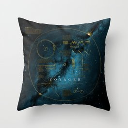 Infographic Variant - Voyager and the Golden Record - Space   Science   Sagan Throw Pillow