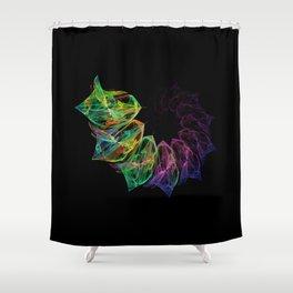 Fractal petals Shower Curtain