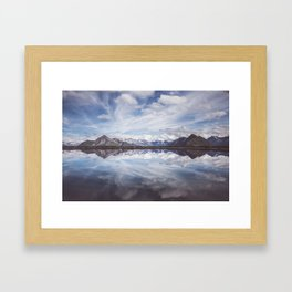 Mountain Lake Reflection - Landscape and Nature Photography Framed Art Print