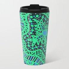 Doodle 16 Blue Metal Travel Mug
