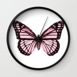 Monarch Butterfly Pink Dream Wall Clock