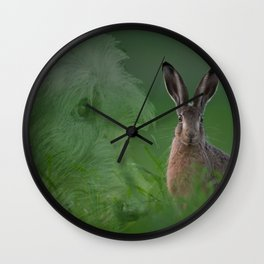 Hare and Hound Wall Clock