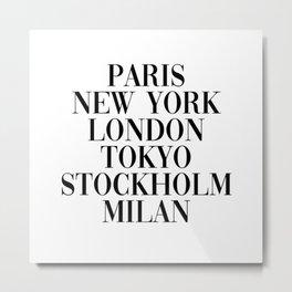 cities Metal Print