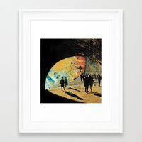 death Framed Art Prints featuring Death by Holden Mesk