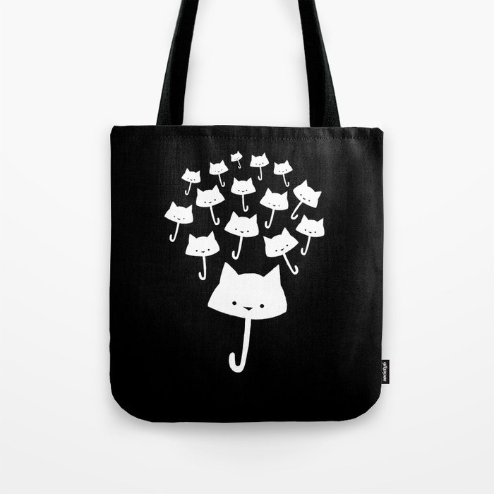 minima - cat rain Tote Bag