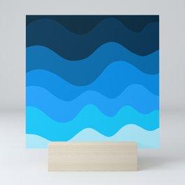 Ocean pattern Mini Art Print