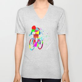 Cycling Forever | Colorful Speed Unisex V-Neck