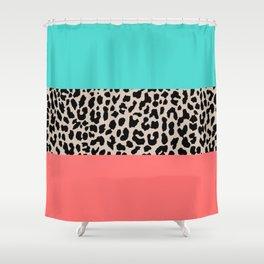 Leopard National Flag XVII Shower Curtain