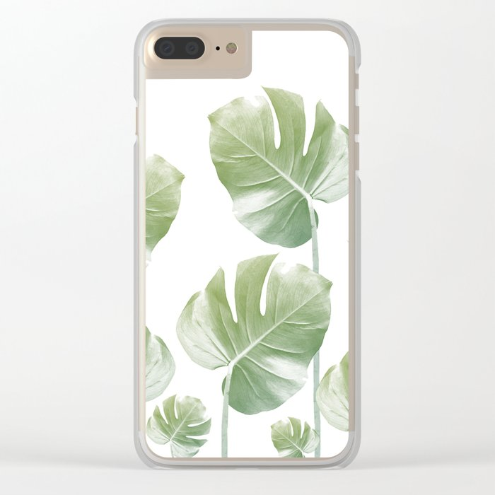 Monstera Rising Clear iPhone Case