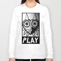 majora Long Sleeve T-shirts featuring Majora Has A Posse by Shy Guy Street Art