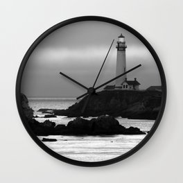Lighthouse at Pigeon Point, California Wall Clock