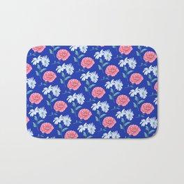 daisy and rose seamless pattern Bath Mat