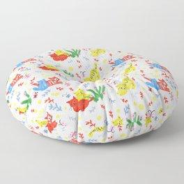 Happy cats (pattern S) Floor Pillow