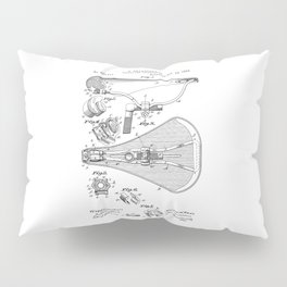 patent art Broadbent Saddle for Velocipedes 1893 Pillow Sham
