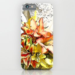 The bride had a orange lily bouquet iPhone Case