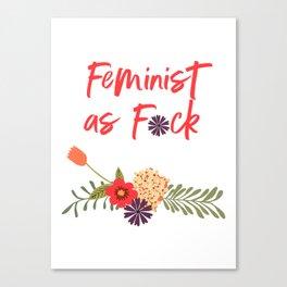 Feminist as F*ck (Censored Version) Canvas Print