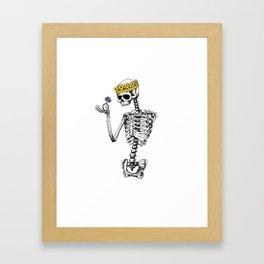 Skeleton King Framed Art Print