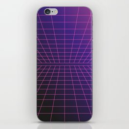 Outrun Grid / 80s Retro iPhone Skin