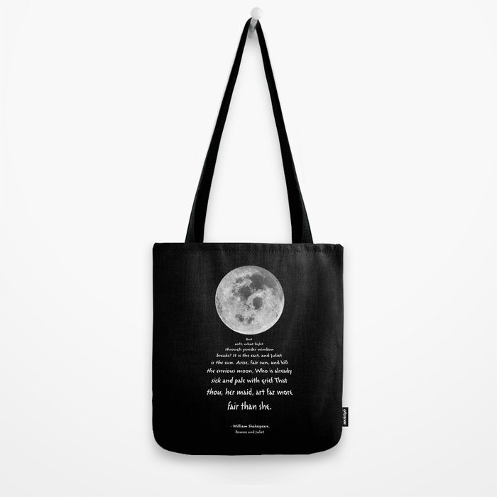 Moon Bridge Shakespeare Tote Bag