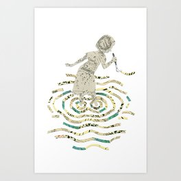 A strange world - Sara Art Print