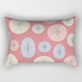 Circle Ovals and Lines Rectangular Pillow