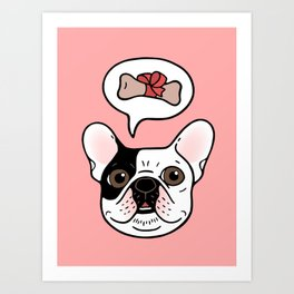 Time to treat the cute Frenchie Art Print