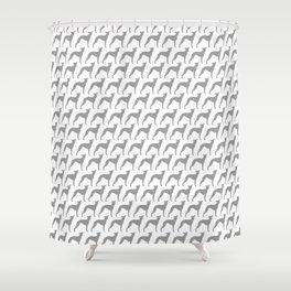 Italian Greyhound Silhouette(s) Shower Curtain
