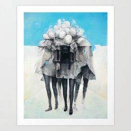Facades Art Print