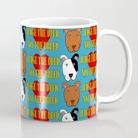 pit bull Mugs featuring Pit Bull Love by S.W.A.L.
