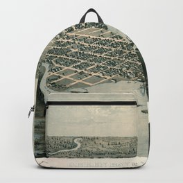 Map Of Green Bay 1867 Backpack